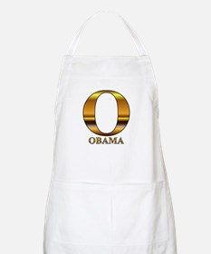 Gold O for Barack Obama BBQ Apron
