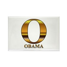 Gold O for Barack Obama Rectangle Magnet