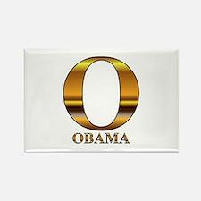 Gold O for Barack Obama Rectangle Magnet