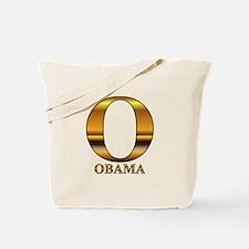 Gold O for Barack Obama Tote Bag