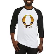 Gold O for Barack Obama Baseball Jersey