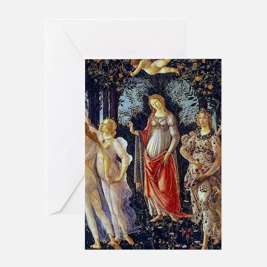 Botticelli: La Primavera Greeting Cards