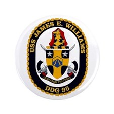 """USS Williams DDG 95 3.5"""" Button"""