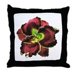 Dark Purple Daylily Throw Pillow