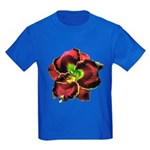 Dark Purple Daylily Kids Dark T-Shirt