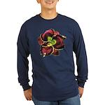 Dark Purple Daylily Long Sleeve Dark T-Shirt