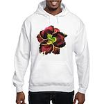 Dark Purple Daylily Hooded Sweatshirt