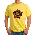 Dark Purple Daylily Yellow T-Shirt