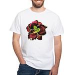 Dark Purple Daylily White T-Shirt