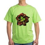 Dark Purple Daylily Green T-Shirt