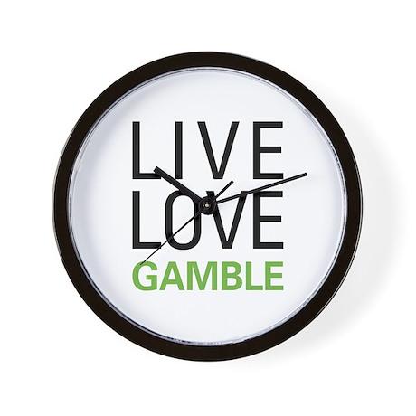 Live Love Gamble Wall Clock