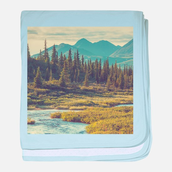 Mountain Meadow baby blanket