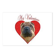 Shar Pei Valentine Postcards (Package of 8)