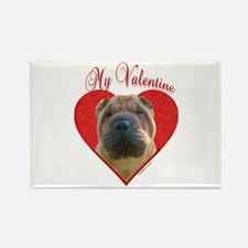Shar Pei Valentine Rectangle Magnet (10 pack)