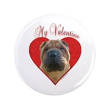 """Shar Pei Valentine 3.5"""" Button"""