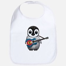 Baby Penguin Playing Colorado Flag Guitar Baby Bib