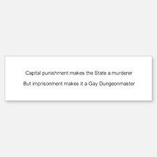 Capital punishment Bumper Bumper Bumper Sticker