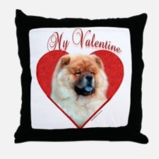 Chow Valentine Throw Pillow
