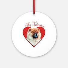 Chow Valentine Ornament (Round)