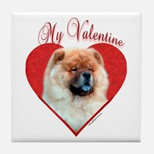 Chow Valentine Tile Coaster