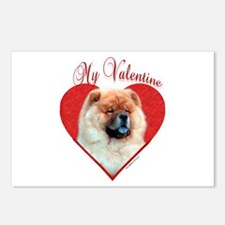 Chow Valentine Postcards (Package of 8)