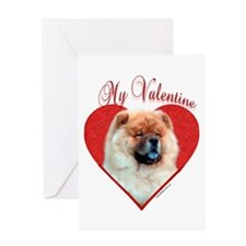 Chow Valentine Greeting Card