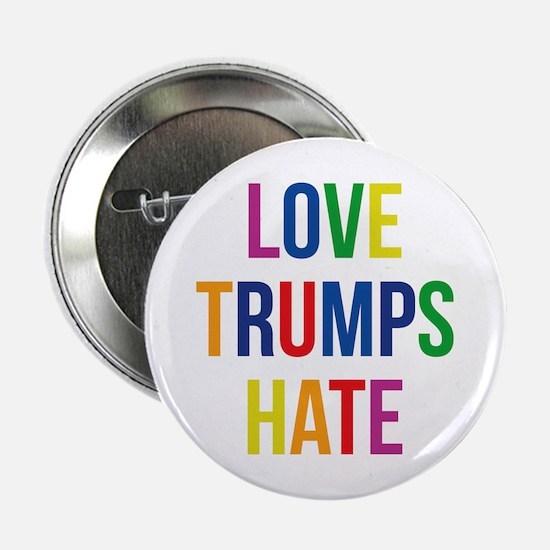"GLBT Love Trumps Hate 2.25"" Button"