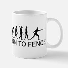 Evolution born to fence Fencing Mug