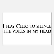 I play Cello to silence the v Postcards (Package o