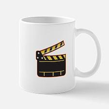 Movie Camera Slate Clapper Board Open Retro Mugs
