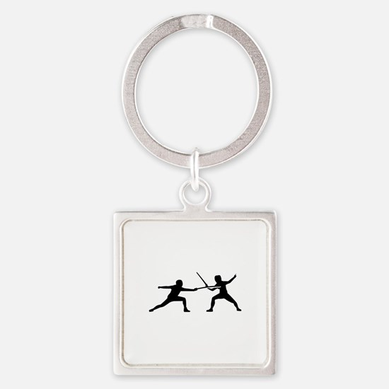 Fencing Square Keychain