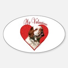 Clumber Valentine Oval Decal