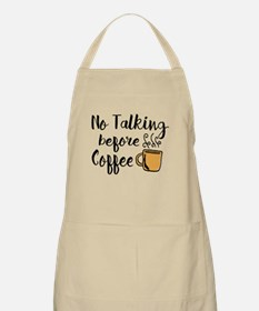 No talking Before Coffee Apron