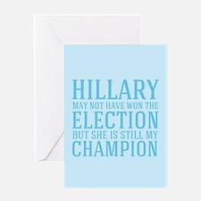 Champion Hillary Greeting Card
