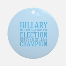 Champion Hillary Round Ornament