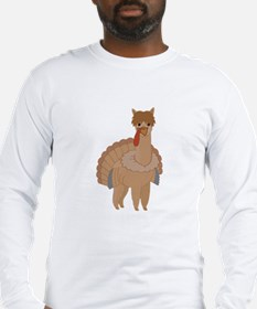 Thanksgiving Llama Long Sleeve T-Shirt