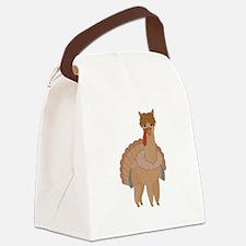 Thanksgiving Llama Canvas Lunch Bag