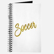 Soccer Gold Faux Foil Metallic Glitter Quo Journal