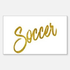 Soccer Gold Faux Foil Metallic Glitter Quo Decal