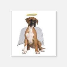 Angel Boxer Puppy Sticker