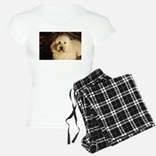 flufy white dog at night Pajamas