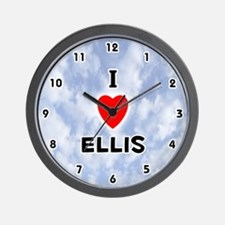 I Love Ellis (Black) Valentine Wall Clock