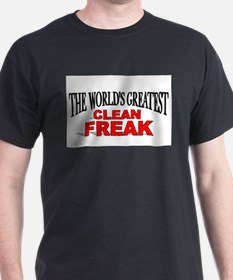 """The World's Greatest Clean Freak"" Ash Grey T-Shir"