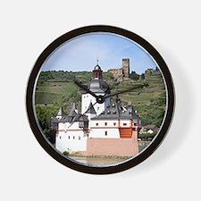 Pfalzgrafenstein Castle, Rhine River, G Wall Clock