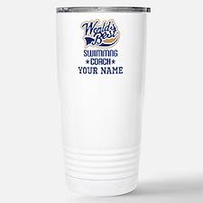 Swimming Coach Personalized Gift Travel Mug