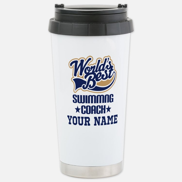 Swimming Coach Personalized Gift Travel Mug