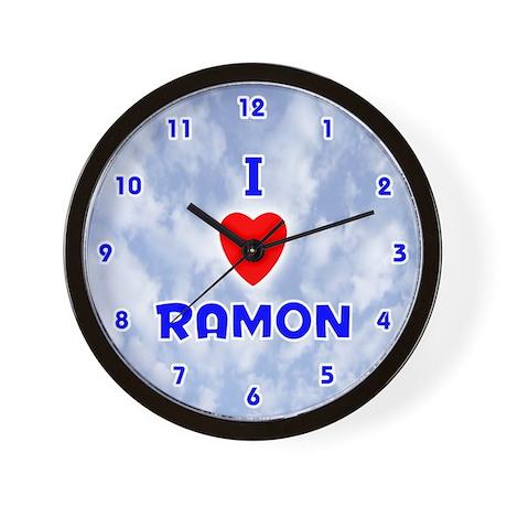 I Love Ramon (Blue) Valentine Wall Clock