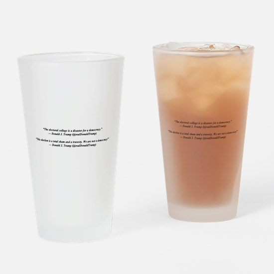 Protest Trump With His Own Words. Drinking Glass
