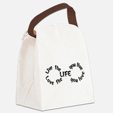 Live the Life Canvas Lunch Bag