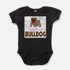 My Big Sister is a Bulldog Baby Body Suit